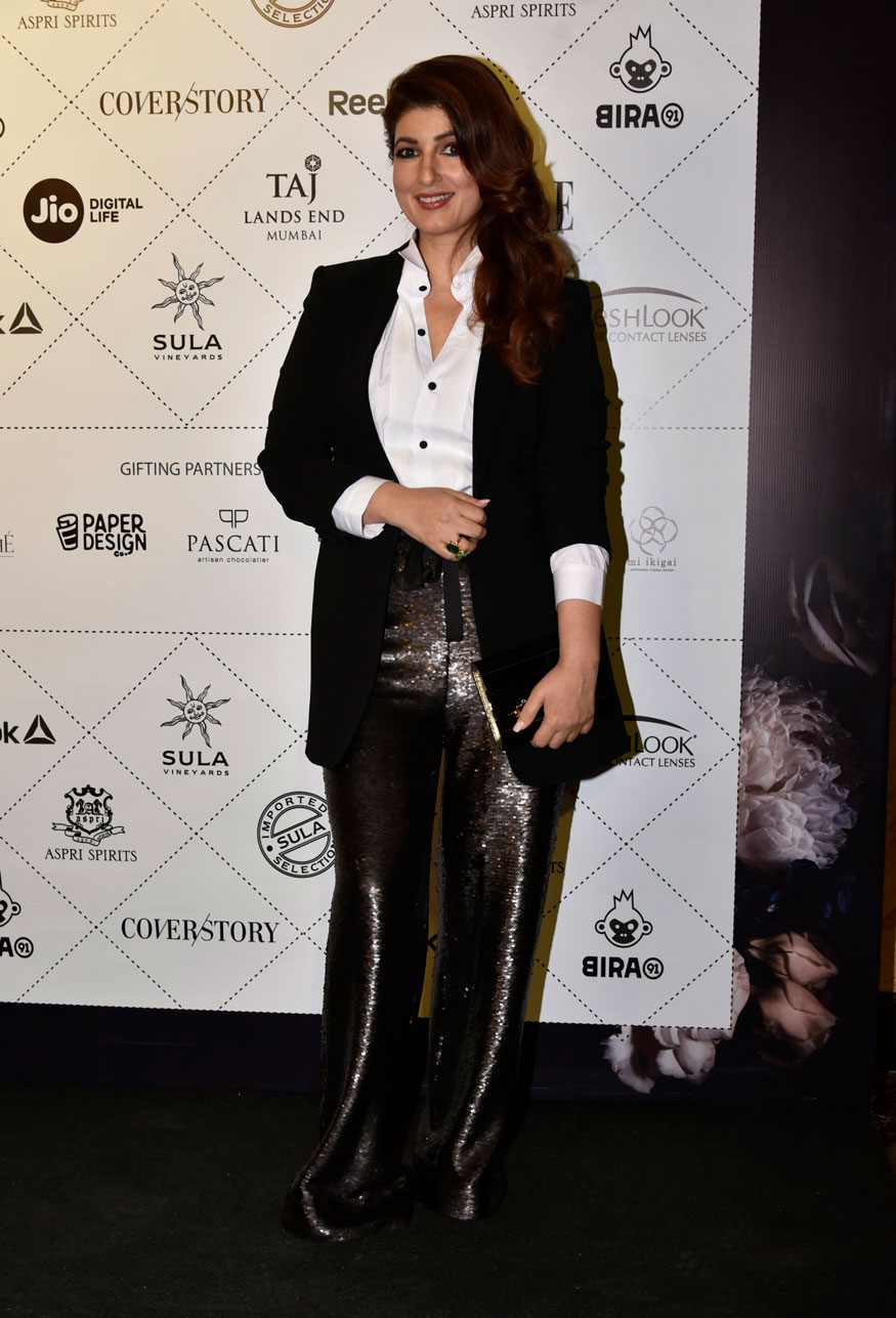 Twinkle Khanna attends the Elle Beauty Awards 2018 in Mumbai. (Image: Viral Bhayani)