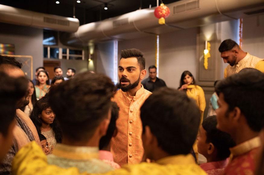 PICS: Virat Kohli & Co Celebrate Diwali With Dharavi Kids