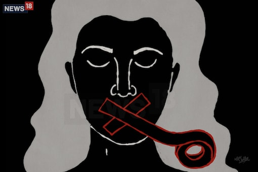 The women were unable to get any help for a long time as they could not find anyone who spoke their language. (Illustration by Mir Suhail/News18.com)