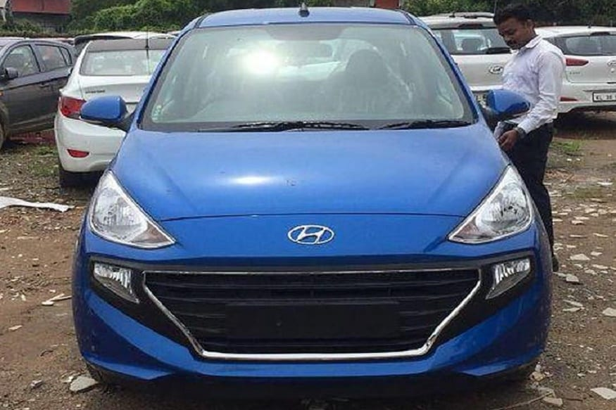 New Hyundai Santro Hatchback Spotted In Marina Blue Color Ahead Of Launch On 23rd October