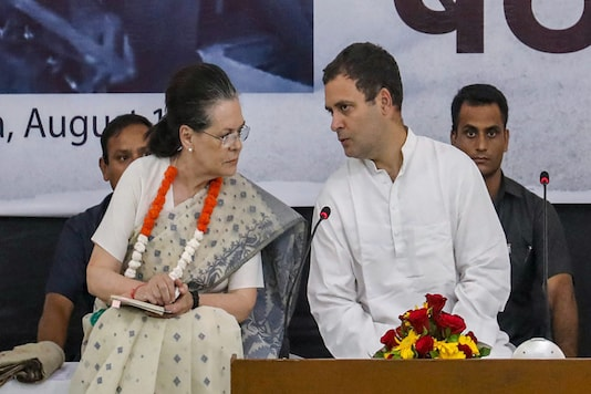 File photo of Congress president Rahul Gandhi with UPA chairperson Sonia Gandhi. (PTI Photo)