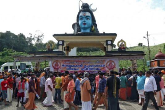 Devotees at the Sabarimala temple in Kerala. (Reuters)