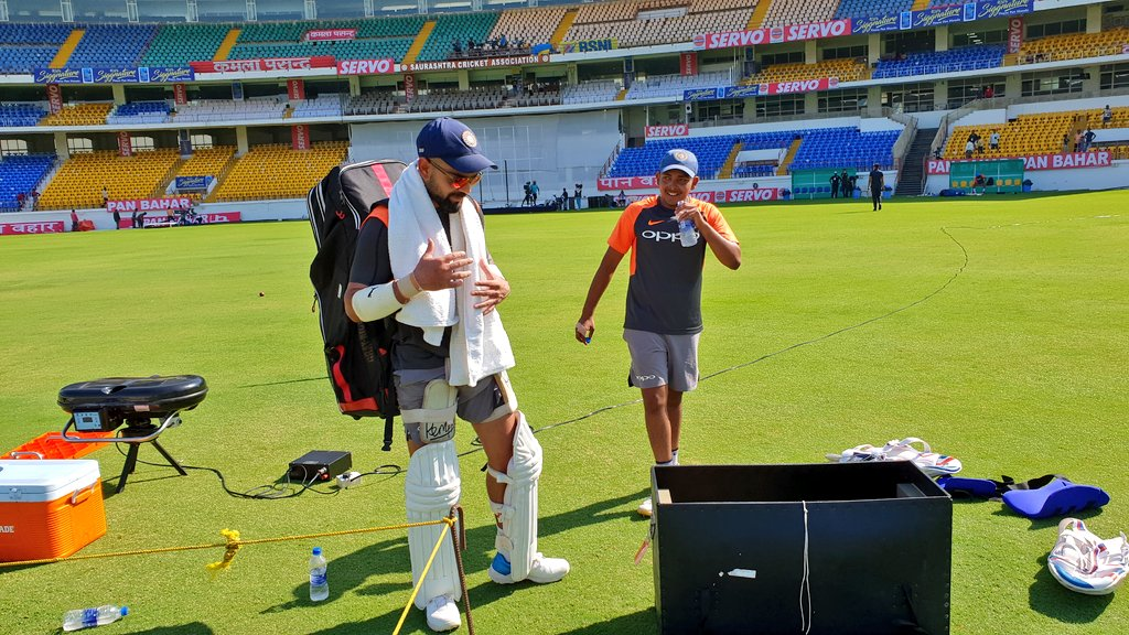 In Pics   Team India Sweat it Out Ahead of Rajkot Test