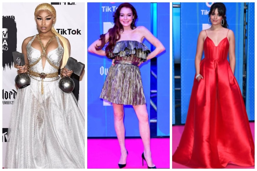 MTV EMA 2018: Nicki Minaj, Camila Cabello, Lindsay Lohan Dressed to Kill