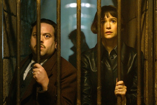 Dan Fogler and Katherine Waterston in a scene from Fantastic Beasts: The Crimes of Grindelwald. (Image: Warner Bros. Pictures/AP)