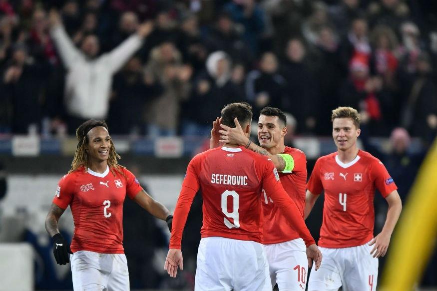 Haris Seferovic Hat-trick Helps Swiss Stun Belgium to Reach Semis