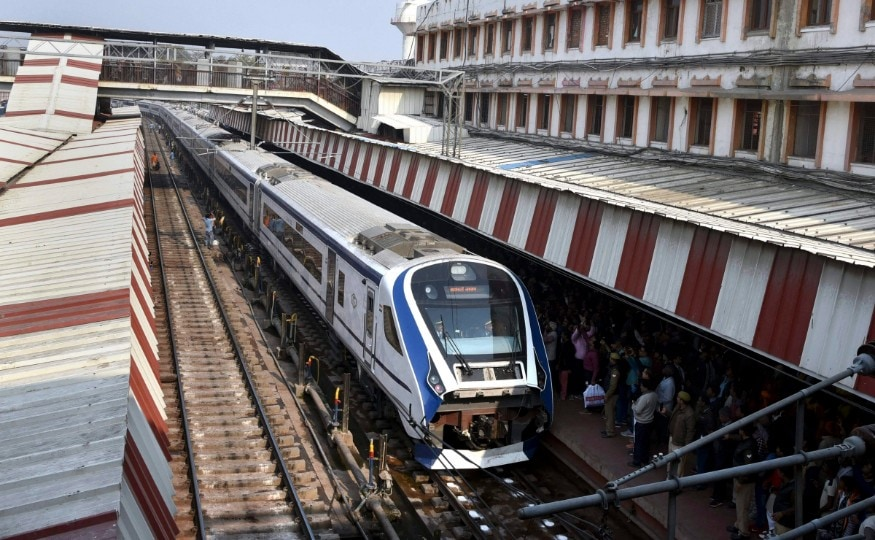 For travelling between New Delhi and Varanasi by Train 18, rechristened as Vande Bharat Express -- made its maiden run on February 15 from New Delhi. (Image: PTI)