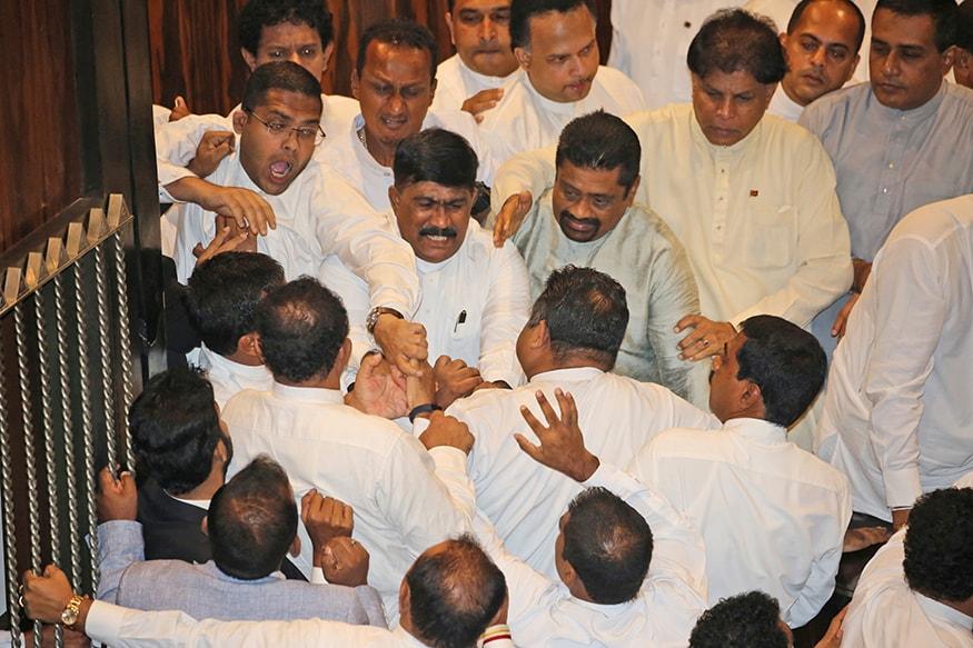 Rajapaksa Supporters Fling Books, Chilli Paste at Speaker as Sri Lankan Parliament Descends Into Farce