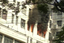 Fire Breaks Out at High-rise Office Building in Kolkata's Park Street
