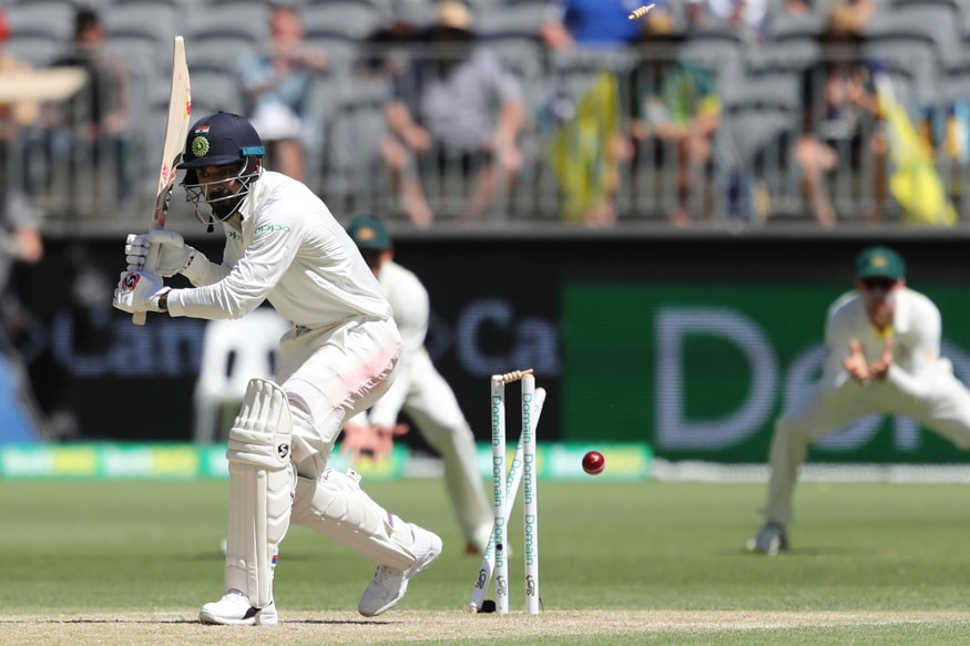 KL Rahul is bowled by Australia's Mitchell Starc. (AP Photo)