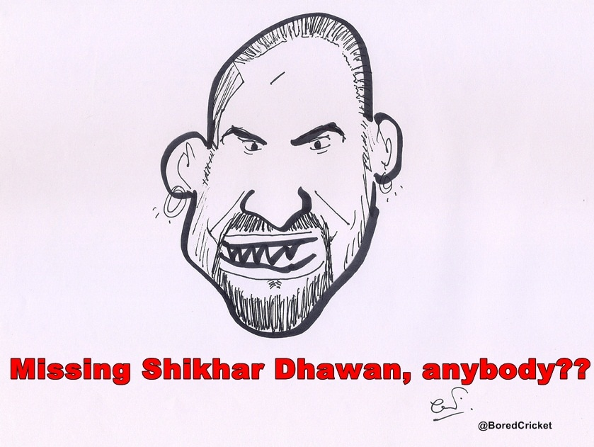 Dhawan cartoon missing