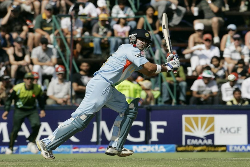 Gambhir in action during his 75 during World T20 2007 final against Pakistan. Pic: AFP