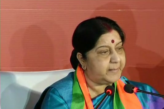 File photo of Union Minister Sushma Swaraj.