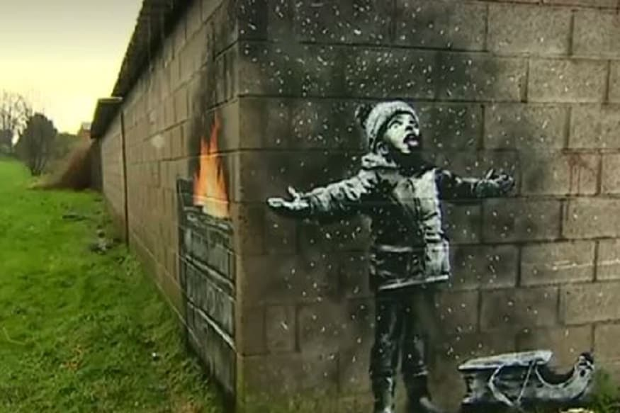 Banksy Confirms that Graffiti Respresenting Poor Air Quality in Welsh Town is By Him