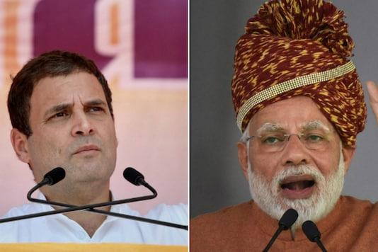 File photos of Congress chief Rahul Gandhi and PM Narendra Modi.
