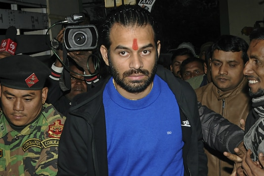 File photo of Rashtriya Janata Dal leader Tej Pratap Yadav. (PTI)