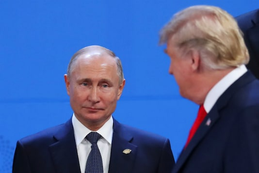 File photo of US President Donald Trump and Russia's President Vladimir Putin. (Reuters photo)