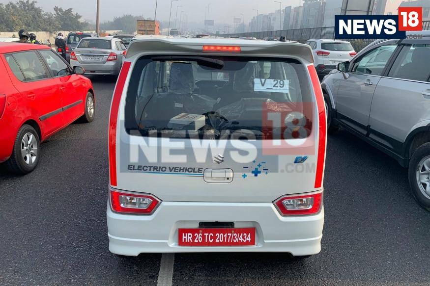 Electric Maruti Suzuki Wagon R seen on test. (Image: Abhinav Jakhar/News18.com)