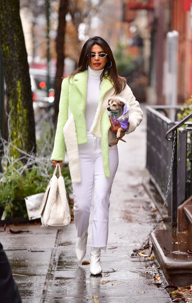 Priyanka-Chopra-Green-Shearling-Jacket-NYC-December-2018-1
