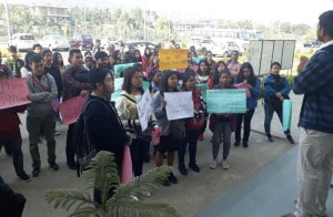 Students Protest at Guwahati TISS