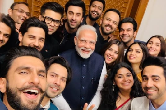PM Narendra Modi's icnonic selfie with some of the biggest names in Bollywood stars