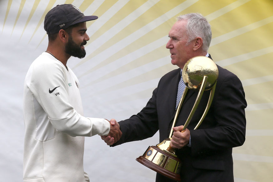 Virat Kohli and Allan Border
