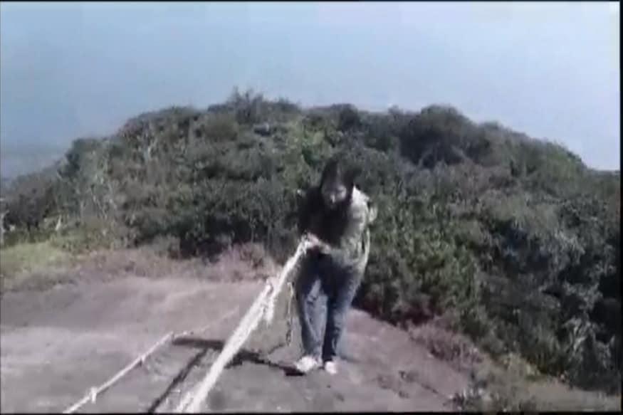 Dhanya Sanal Becomes First Woman To Trek To Agasthyarkudam Peak in Kerala