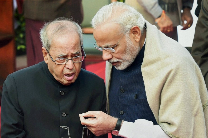 File photo of Pranab Mukherjee and Narendra Modi. (PTI)