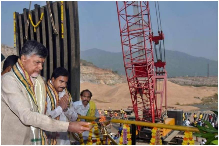 Image result for polavaram dam images and earth breakages