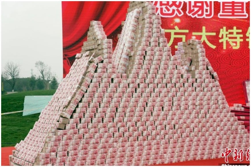 China Firm Makes 'Money Mountain' to Distribute Rs 34 Crore New Year Bonus Among Employees