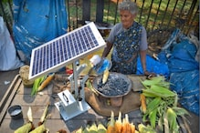 A 75-Year-Old Woman in Bengaluru is Using a Solar-Powered Fan to Grill Corn