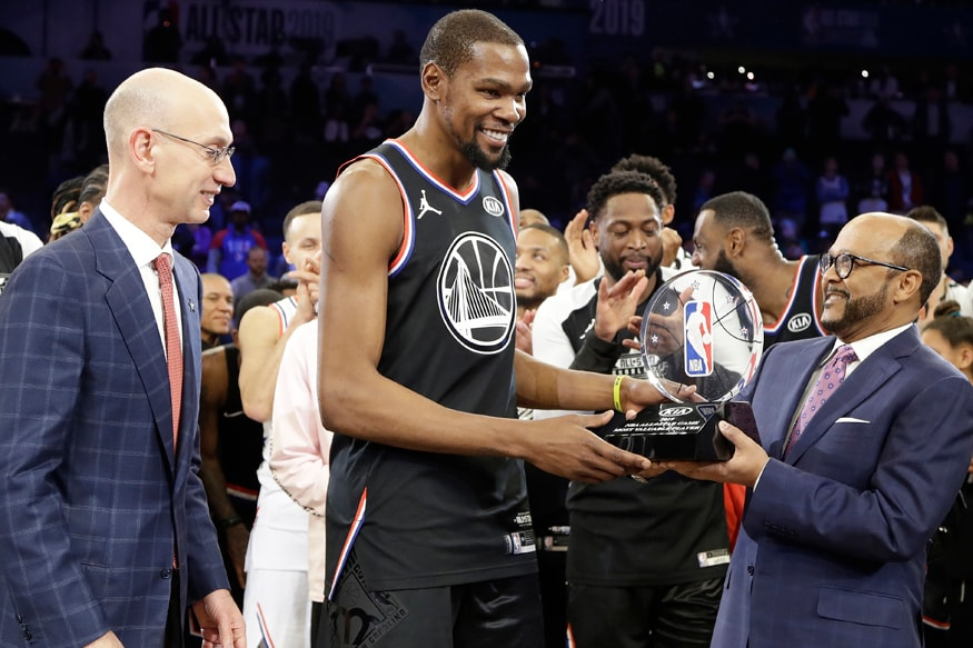 Image result for Durant Wins MVP, Sparks Team LeBron Comeback at NBA All-Star Game