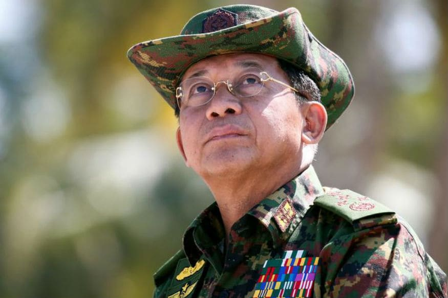 Myanmar Army Chief Min Aung Hlaing Denies Systematic Persecution of Rohingya