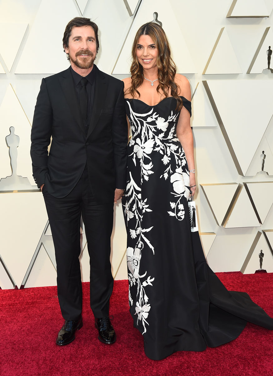 Christian Bale and Sibi Blazic arrive at the 91st Academy Awards in Los Angeles. (Image: AP)