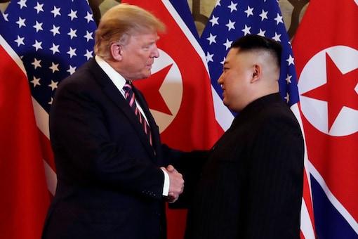 US President Donald Trump with North Korean leader Kim Jong Un in Hanoi. (Image: AP/File Photo)
