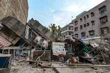 Four-Storey Building Collapses in Delhi's Karol Bagh; See Pictures