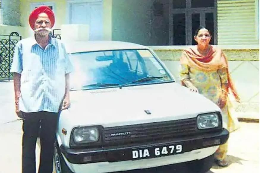 Harpal Singh with his Maruti 800. (Source - Team BHP)
