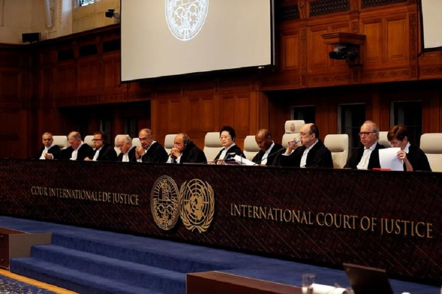 Judges seen at the International Court of Justice during the final hearing in the Kulbhushan Jadhav case in The Hague, the Netherlands. (Image: Reuters)