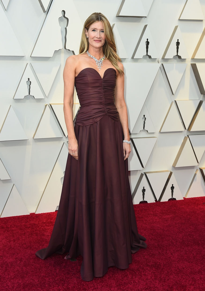 Laura Dern arrives at the 91st Academy Awards in Los Angeles. (Image: AP)