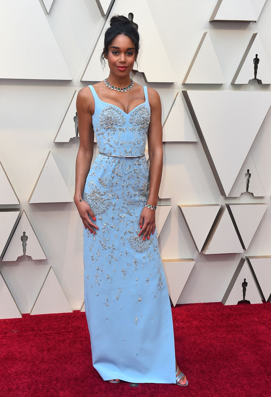 Laura Harrier at the 91st Academy Awards in Los Angeles. (Image: AP)