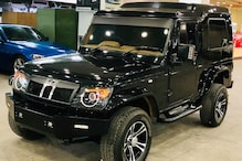 This Modified Mahindra Bolero Invader with Black Paint Looks Barely Recognizable