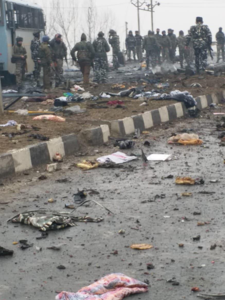 5f91adf295 Ground Zero Photos Describe The Horror of Pulwama Terror Attack -  Photogallery