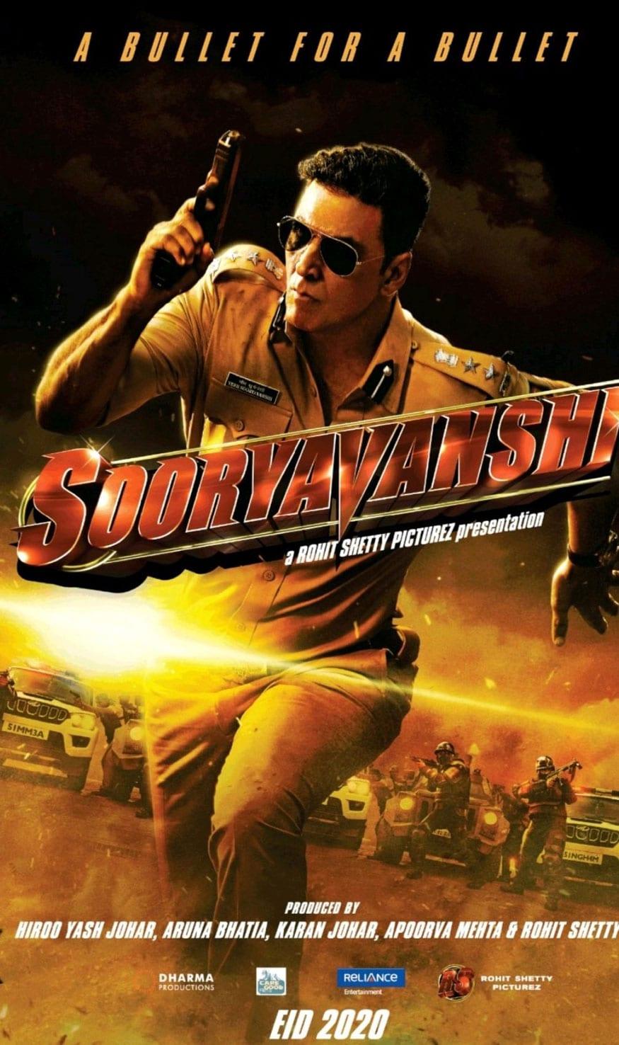 Movies' First Look: Akshay Kumar as a Fierce Cop in Sooryavanshi