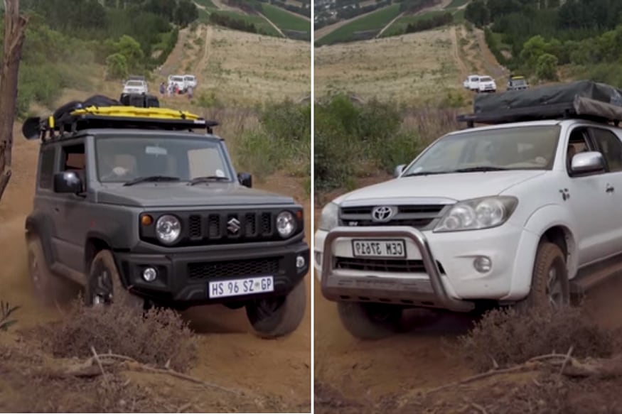 Suzuki Jimny Vs Toyota Fortuner SUV Off-Road Battle
