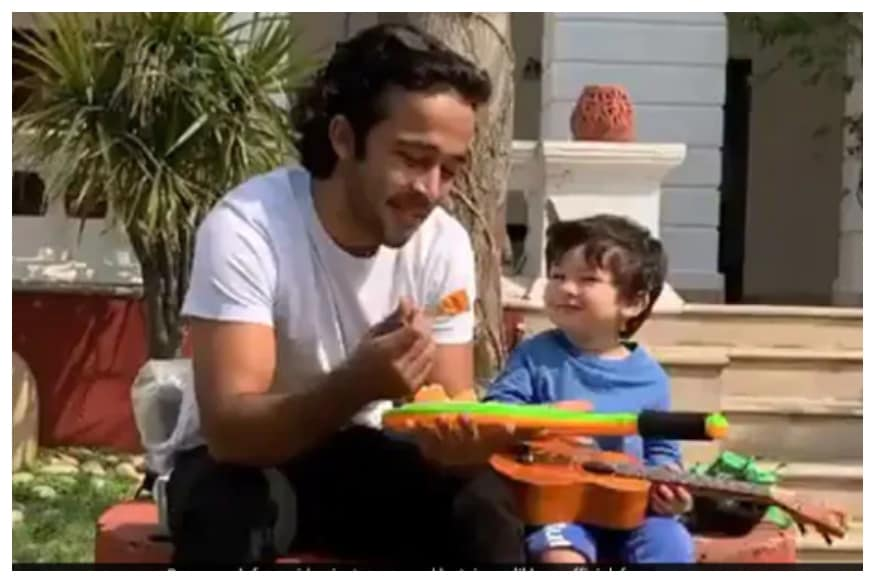 Internet Gushes Over Taimur Ali Khan Playing Ukulele, See