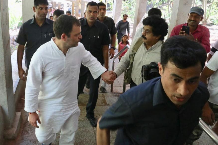 Rahul Gandhi Treks 10-km Tirumala Hills, Offers Prayers at Lord Balaji Temple