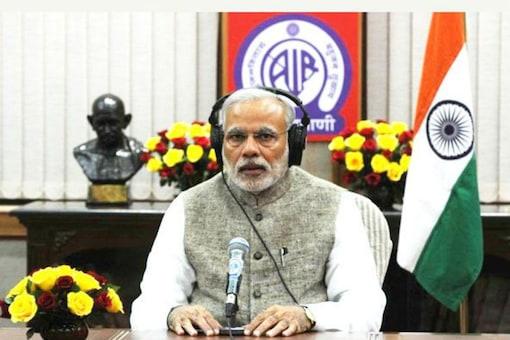 File photo of PM Modi in Mann ki Baat.