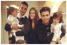 Neha Dhupia Posts Throwback Photo to Celebrate the Birthday of Karan Johar's Twins Yash and Roohi
