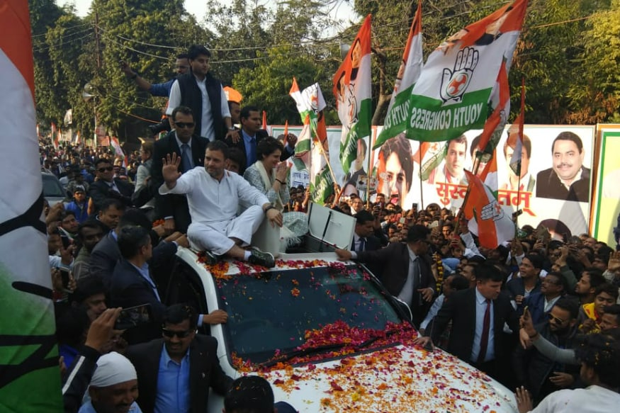 Priyanka Gandhi in Lucknow LIVE: New Neta to Deliver First Political Speech, Rahul Sets the Tone With 'Chowkidar Chor Hai' Chant