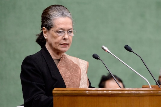 Sonia Gandhi addresses the Congress Parliamentary Party meeting in Delhi (File photo)